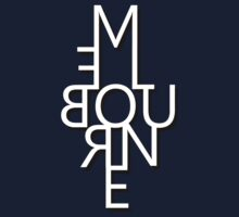 Melbourne - Mirror Text One Piece - Short Sleeve