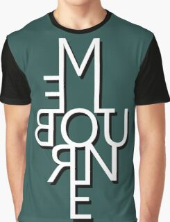 Melbourne - Mirror Text Graphic T-Shirt