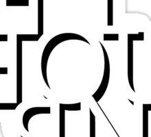 Melbourne - Mirror Text Sticker