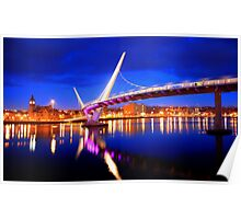 Derry Peace Bridge Near Night Poster