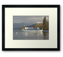Windermere Lake from Bowness pier. Framed Print