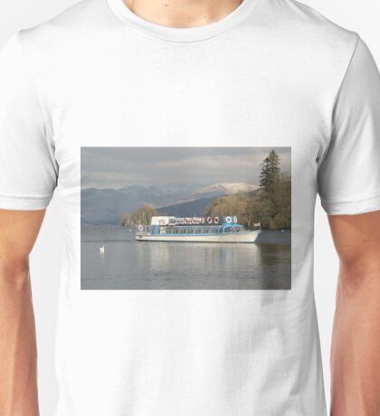 Windermere Lake from Bowness pier. Unisex T-Shirt