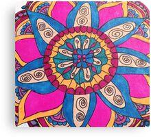 Playful Mandala Canvas Print