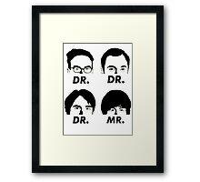 MR & DR Framed Print