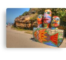 Colourful Sculpture by the Sea Canvas Print