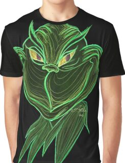 Inverted Grinch Christmas Drawing Graphic T-Shirt
