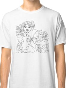 girl with the bike Classic T-Shirt