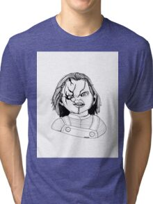 Chucky from Childs Play Tri-blend T-Shirt