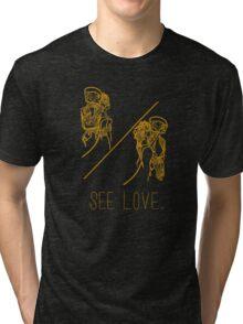 See Love (Gold) Tri-blend T-Shirt