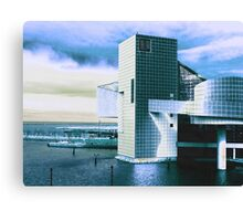 Rock And Roll Hall Of Fame - Electric Blue Canvas Print