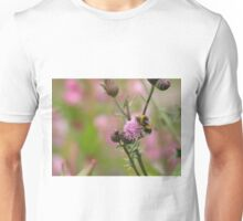 Bee on Knapweed. Unisex T-Shirt
