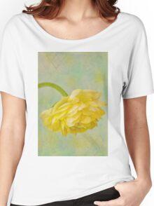 Yellow Ranunculus Macro Women's Relaxed Fit T-Shirt