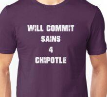 Chipotle Sins White Unisex T-Shirt