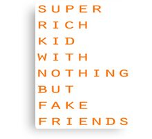 Super Rich Kid Canvas Print