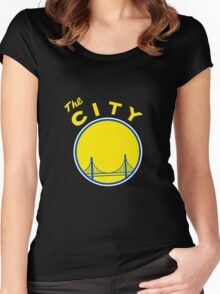 Golden State Warriors Retro Women's Fitted Scoop T-Shirt