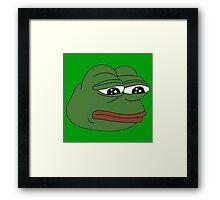 Pepe Meme Framed Print