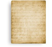 Vintage Sheet Music Background Canvas Print