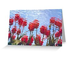 Reflected Tulips Greeting Card
