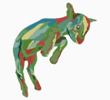 Leaping Red n Green Goat One Piece - Short Sleeve