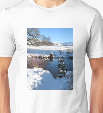 Stepping stones under Loughrigg Ambleside. Unisex T-Shirt
