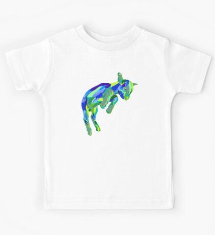 Leaping Blue Goat Kids Tee