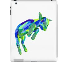 Leaping Blue Goat iPad Case/Skin