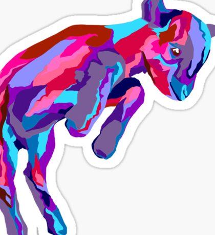 Leaping Amethyst Goat Sticker