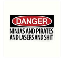 Ninjas and Pirates and Lasers, Oh My! Art Print