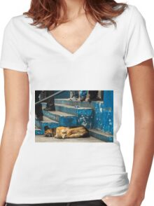 A Quiet Step Women's Fitted V-Neck T-Shirt