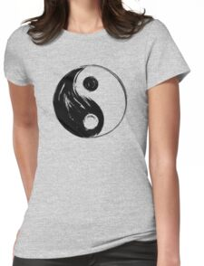Yin and Yang - Black Edition Womens Fitted T-Shirt