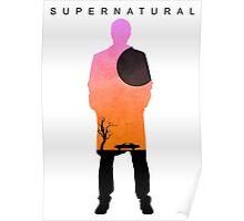 Supernatural - Castiel Impala Silhouette Poster