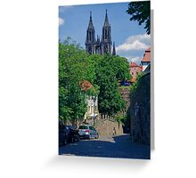 Castle & Cathedral, Meissen, Saxony Greeting Card