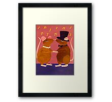 Strangers in the Night: A Love Story Framed Print