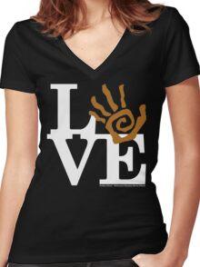 Soil Field Study Love (fcw) Women's Fitted V-Neck T-Shirt