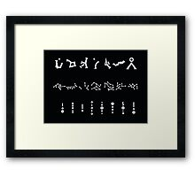 Stargate Address - SG1 Atlantis Universe Framed Print