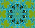 Lime Blue Abstract by Carla Jensen
