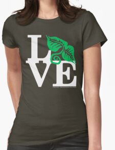Plants Field Study Love (fcw) Womens Fitted T-Shirt