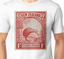 """1936 New Zealand Kiwi Stamp"" Unisex T-Shirt"