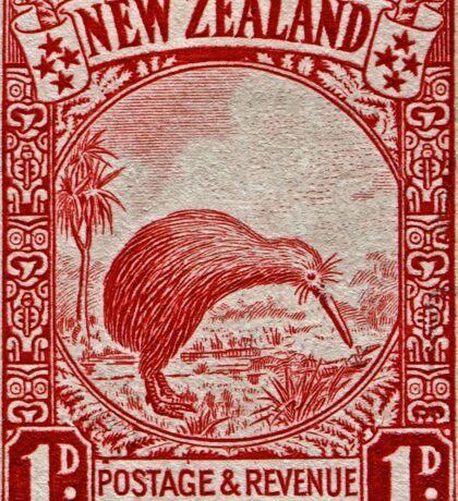 """""""1936 New Zealand Kiwi Stamp"""" Sticker"""