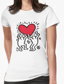 Keith Haring Love Womens Fitted T-Shirt