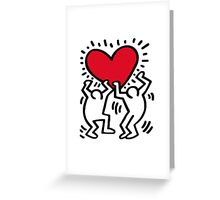 Keith Haring Love Greeting Card