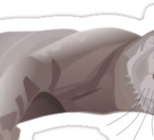 Sleepy cat Sticker
