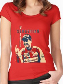 Sebastian Vettel - Ferrari Women's Fitted Scoop T-Shirt