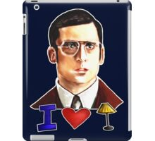 I Love Lamp: Brick Tamland's Awesome Quote From The Movie Anchorman; Hand-Drawn Illustration  iPad Case/Skin