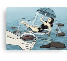 Girl taking Bath Canvas Print