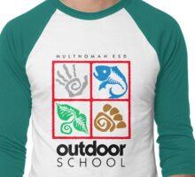 Outdoor School Logo (fcb) Men's Baseball ¾ T-Shirt