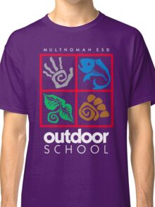 Outdoor School Logo (fcw) Classic T-Shirt