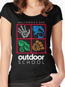 Outdoor School Logo (fcw) Women's Fitted Scoop T-Shirt