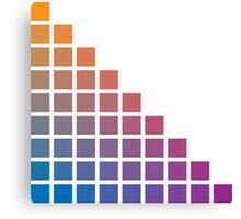 Ombre orange>purple Canvas Print