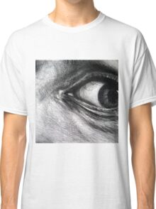 Looking eyes, graphite crayon on paper Classic T-Shirt